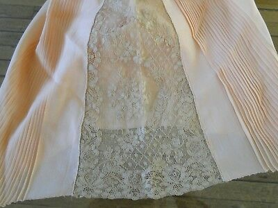 CIRCA 1920's.LADIES  UNUSED SILK  BLOOMERS/DRAWERS WITH PLEATING,ALENCON LACE