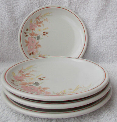 Boots Hedge Rose - 4 Salad or Breakfast Plates 8.75""
