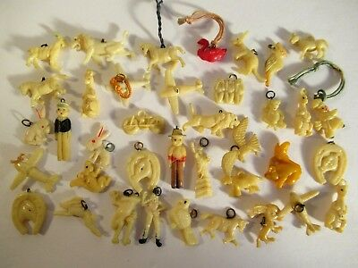 38 Pc Vintage 1930-40 Celluloid Cracker Jack Charm Lot B