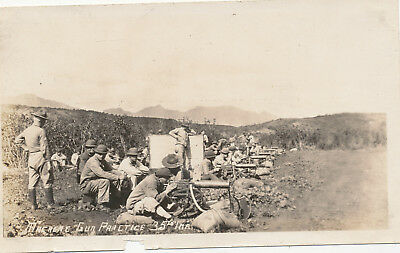 1933 US Army 35th Inf Machine Gun Practice,  Hawaii  Photo