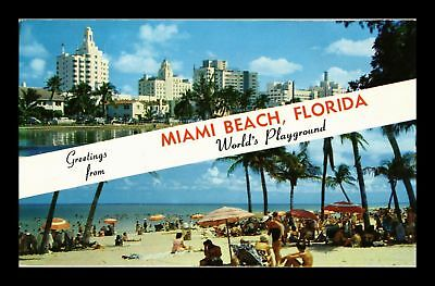 Dr Jim Stamps Us Greetings From Miami Beach Florida Chrome View Postcard