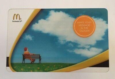 2006 McDonalds Gift Card. WRITE YOUR MESSAGE IN THE CLOUDS. Mint. W/W shipping.