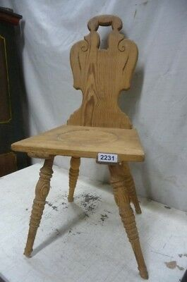 2231. Alter Barock Stuhl Old wooden chair