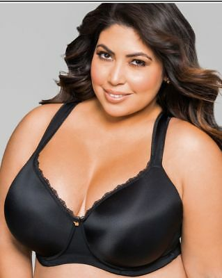 ASHLEY STEWART FULL COVERAGE BUTTERFLY BRA Black 46DD new w tags        R8F4 9df11f495