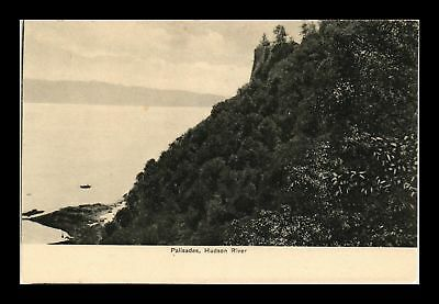 Dr Jim Stamps Us Palisades View Hudson River New York Postcard