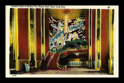 Dr Jim Stamps Us Grand Foyer Radio City Music Hall New York City Postcard