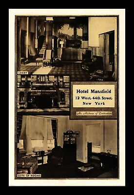 Dr Jim Stamps Us Hotel Mansfield Multiple Views New York Postcard