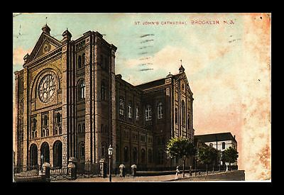 Dr Jim Stamps Us St Johns Cathedral Brooklyn New York View Postcard