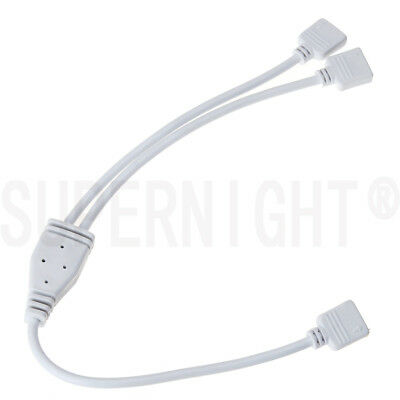 SUPERNIGHT® 4-Pin Splitter 1 to 2 Connector Cable for RGB Color LED Strip Light