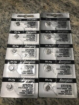 NEW Energizer 377/376 Batteries Lot Of 10
