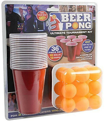 36pc Beer Pong Drinking Game Alcohol American Cup Gift Christmas Party Ping