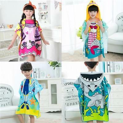 Baby Cartoon Soft Hooded Towel Children Swim Beach Bath Wear Kids Bathrobe Y2
