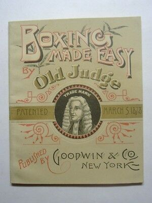 1878 OLD JUDGE BOXING MADE EASY RARE 12 Pg BOOKLET McAULIFFE DEMPSEY SULLIVAN