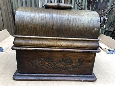 Beautiful Early Model Edison Standard Cylinder Player Phonograph
