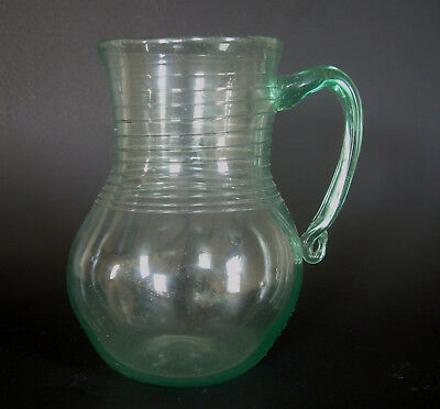 Antique South Jersey or New York State Pitcher Early American Bottle Glass