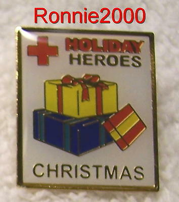 CHRISTMAS HOLIDAY HEROES   American Red Cross pin