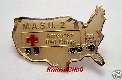MASU 2  VEHICLE  American Red Cross pin VINTAGE AND  RARE FIND