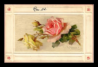 Dr Jim Stamps Us Embossed Flowers Topical Greetings Postcard