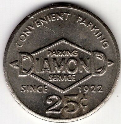 Diamond Parking Service Token Since 1922 25 Cent Nice Coin