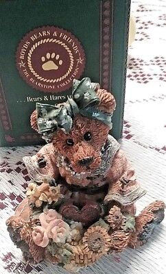 great 4 Valentines BOYDS  BEARSTONE JUSTINA THE MESSAGE BEAR  I LOVE YOU