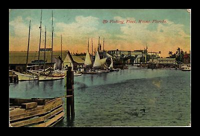 Dr Jim Stamps Us The Fishing Fleet Miami Florida View Postcard