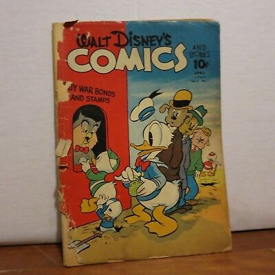 Walt Disney's Comics & Stories no. 31 (1943) 1st. Carl Barks Donald Duck in WDCS