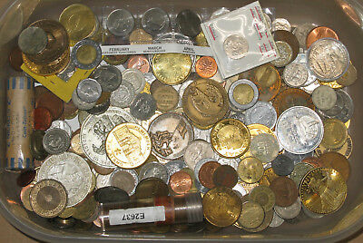 5 lbs pounds coins & tokens collection lot