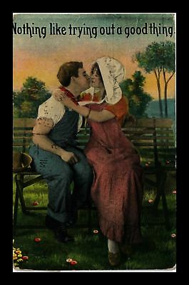 Dr Jim Stamps Us Couple Kissing Nothing Like Trying A Good Thing Postcard