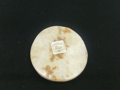 Onyx Round Smoking Stone Carved Holder Unfiltered Cigarettes Small Cigar #14