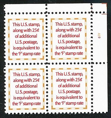 Dr Jim Stamps Us Scott 2521 Makeup Rate 1991 Plate Block Og Nh No Reserve