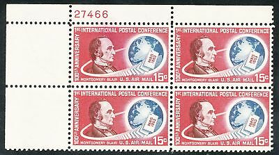 Dr Jim Stamps Us Scott C66 15C Intl Postal Conference Plate Block Og Nh