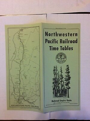 Northwestern Pacific Railway Timetable