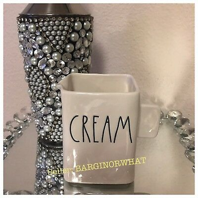 New Rae Dunn By Magenta Ceramic CREAM Coffee Tea Canister Holder Large Letters
