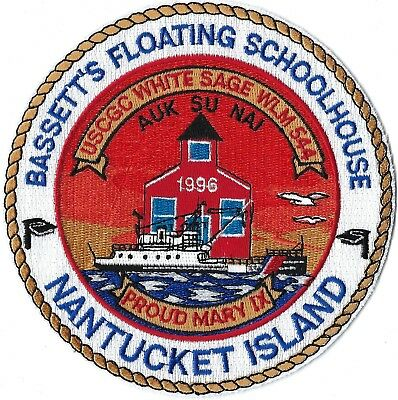 Us Coast Guard Cutter White Sage Wlm-544 Bassett's Floating Schoolhouse Patch