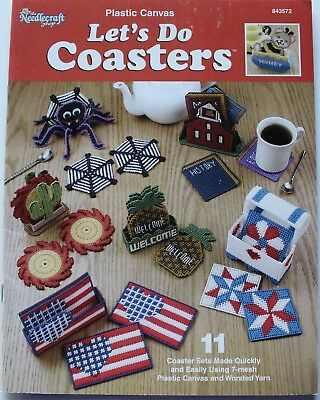 TNS Lets do Coasters Spiders Flags Bees Plastic Canvas Patterns Book 11 Designs