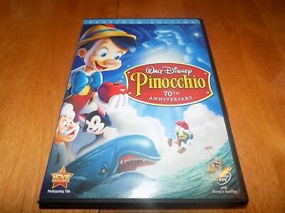 WALT DISNEY PINOCCHIO 70TH ANNIVERSARY Classic 2-Disc DVD SET PLATINUM EDITION