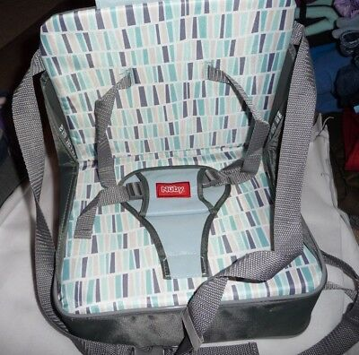 Nuby Easy Go Gray Fabric Travel portable child kids booster seat chair Toddler