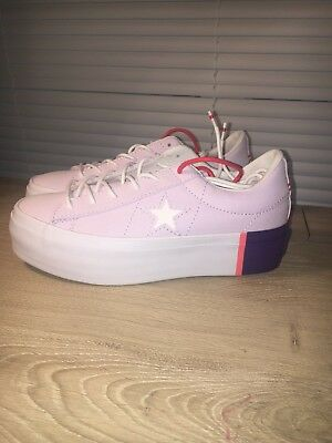 06f05980abfafe Converse One Star Platform Tri-Block Barely Grape Womens Size 3.5 Mens 5.5