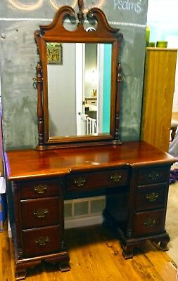 Kling Furniture Desk/Vanity with Tilting Mirror Mahogany Association #239