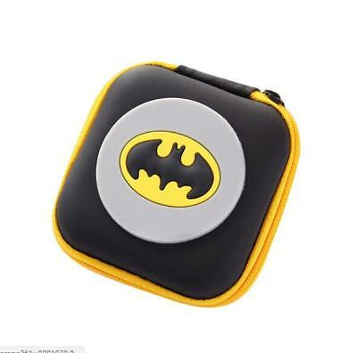 1Pcs Cartoon batman Kids Rubber Coin Purse Wallet Headset Bag Gift EB22