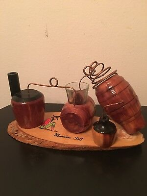 Wooden Moonshine Still. Hand Made Folk Art