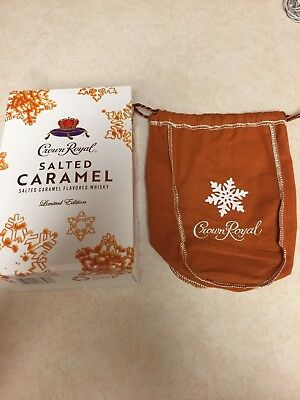 Empty Limited Edition Crown Royal Salted Caramel Box & Bag holiday