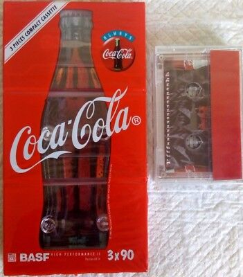 CASSETTE TAPES BLANK SEALED - pack BASF 90 COCA COLA (type II) [1995] - RARE