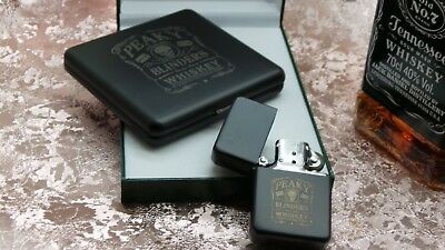 Peaky Blinders Set Engraved Cigarette Case and Lighter By Order of Tom Shelby