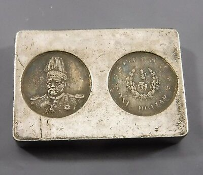 Old Chinese Silver Coloured Ingot / Trading Token Non-Magnetic 31g 31 x21 x 5mm