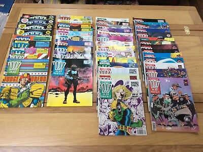 The best of 2000AD monthly job lot, 47 Issues, see below for full list