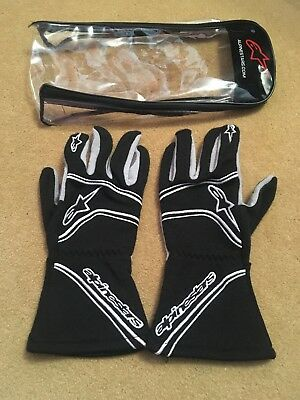 Alpinestars Size L Mens Black Grey Racing Driving Gloves