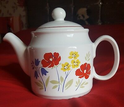 Vintage sadler teapot large 2 pint floral ceramic kitchenware pottery