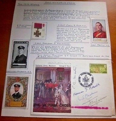 Unique-Victoria Cross Cover Signed By Four Vc Holders From 1914-1918 War+Extras