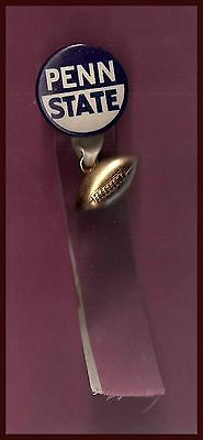 OLD 1960's Penn State University Nittany Lions Football Pin and Fob!